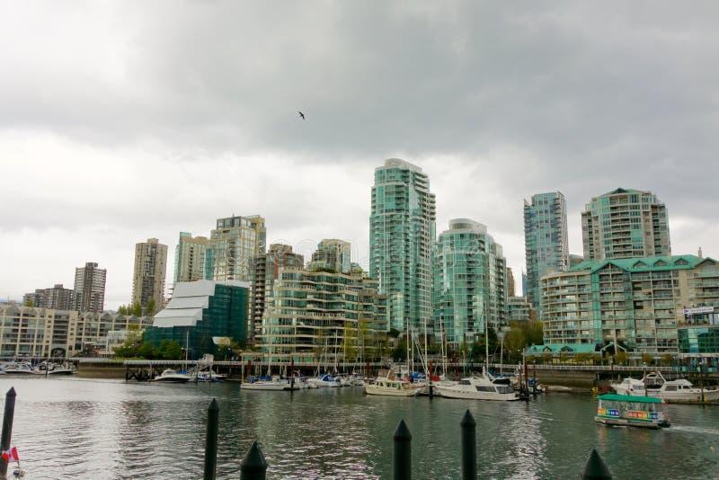 Vancouvers eindrucksvolle Ufergegend stockbild