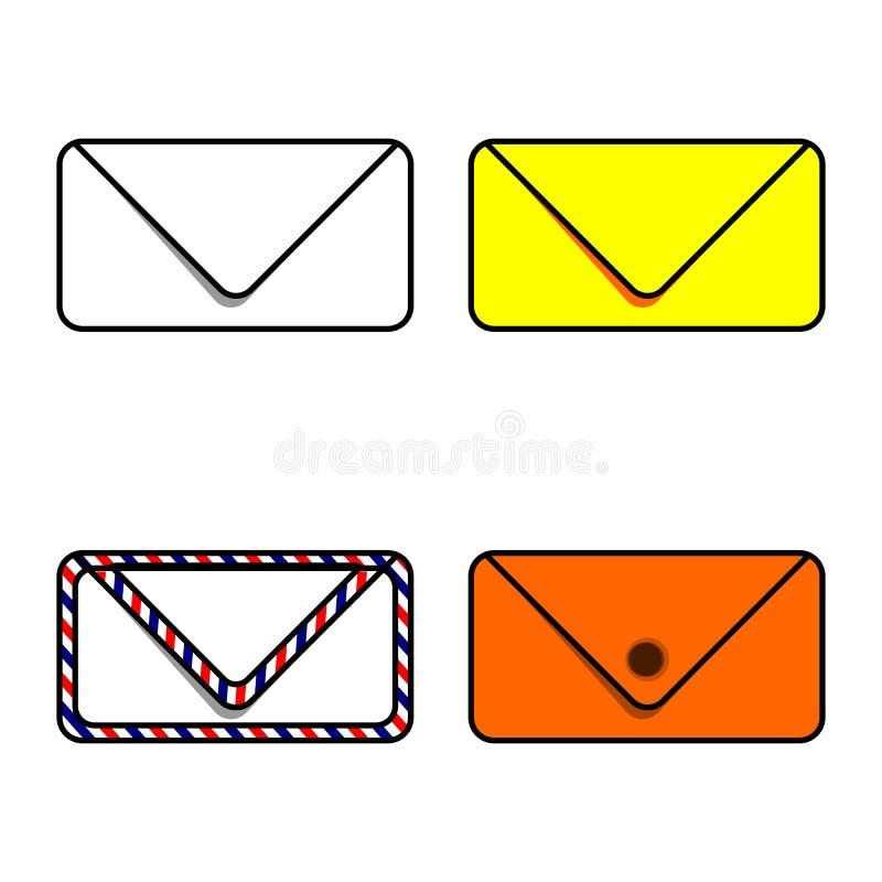 Vandaag, hebben wij enveloppen nodig om nieuws te verzenden royalty-vrije illustratie
