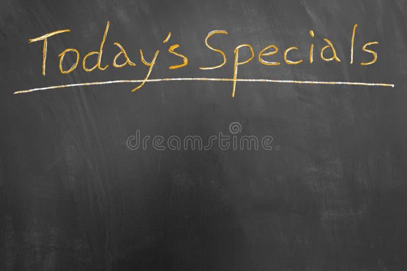 Vandaag het krijttekst van de specialstitel op bord royalty-vrije stock foto