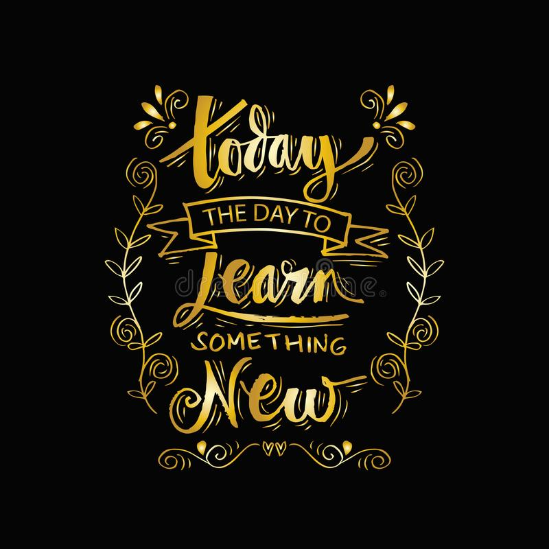 Vandaag leert de dag nieuw iets vector illustratie