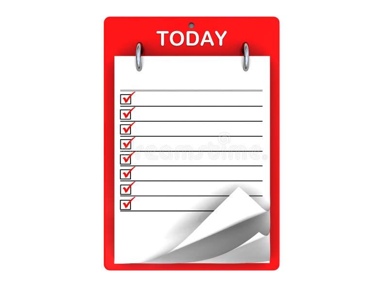 Vandaag tasklist royalty-vrije illustratie