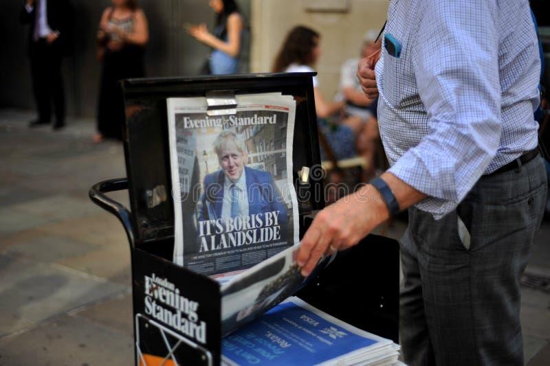 Vandaag wordt Boris Johnson de Eerste minister van het Verenigd Koninkrijk stock fotografie