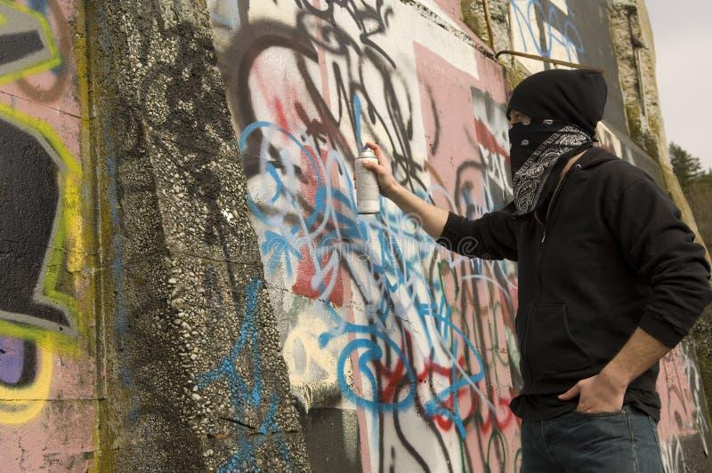 Vandale de graffiti images libres de droits