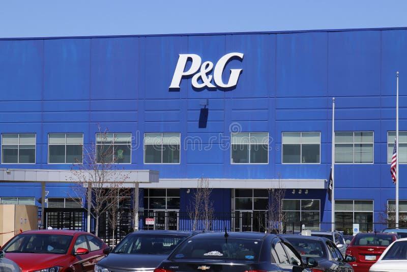 Vandalia - cerca do abril de 2018: Centro de distribuição da união de Procter & Gamble P&G é um Multinacional americano Bens de c imagem de stock royalty free