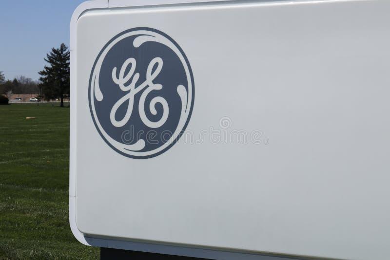 Vandalia - Circa April 2018: General Electric-Luchtvaartfaciliteit GE-de Luchtvaart is een Leverancier van GE90 en SPRONG Jet Eng stock foto