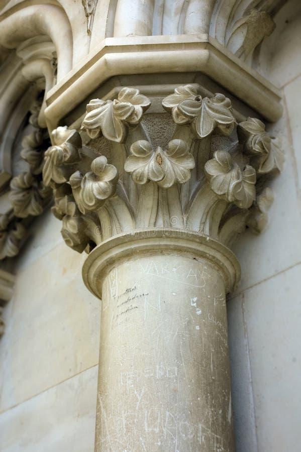 vandaliserad kolonndetalj fotografering för bildbyråer