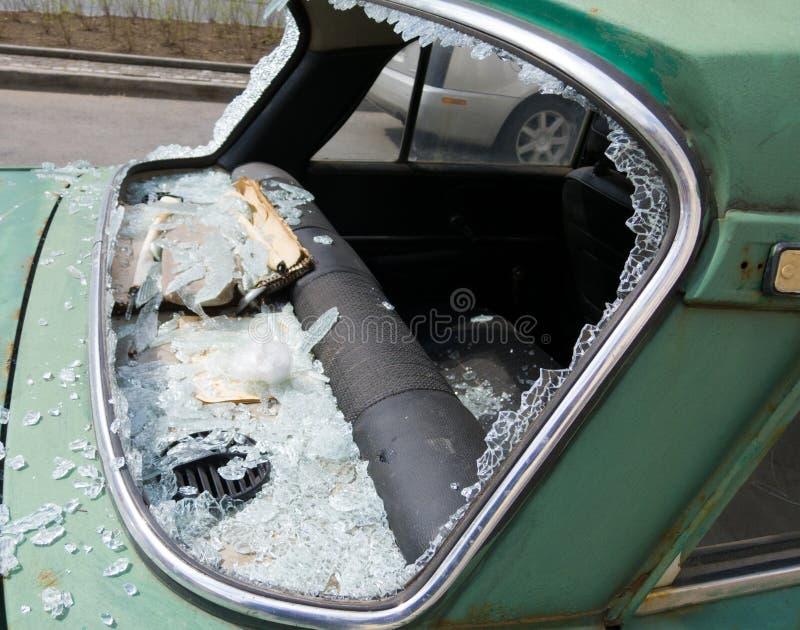 Vandalismo do carro fotografia de stock royalty free