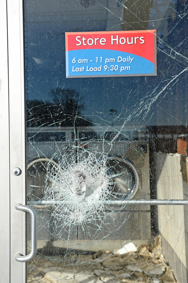 Vandalismo en Ferguson fotografía de archivo