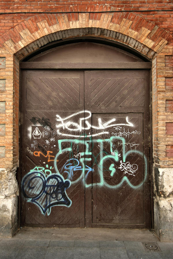 Vandalismo urbano fotos de stock royalty free