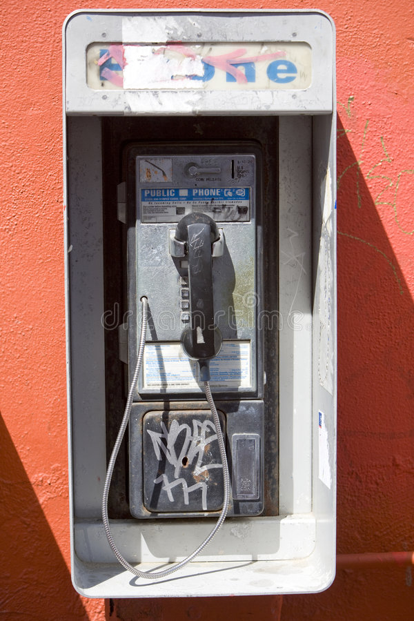 Vandalized Payphone 2 royalty free stock image