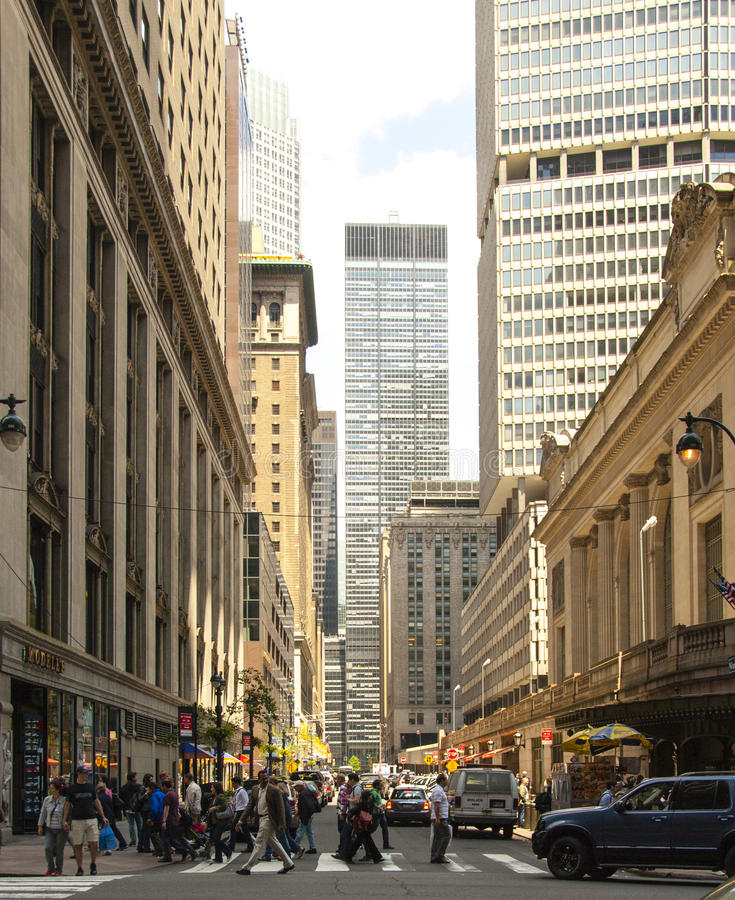Vanderbilt Ave, looking north from 42st. royalty free stock image