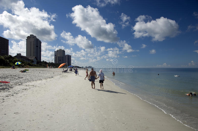 Vanderbilt Beach Naples Florida. With the Gulf really calm and loads of sunshine royalty free stock photos
