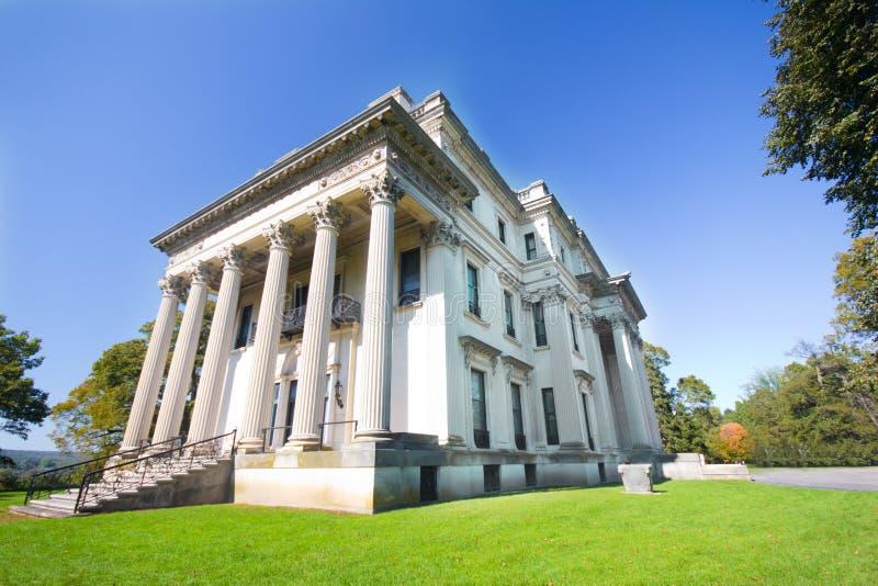 Vanderbilt Mansion. View of historic Vanderbilt Mansion at Hyde Park, New York royalty free stock images