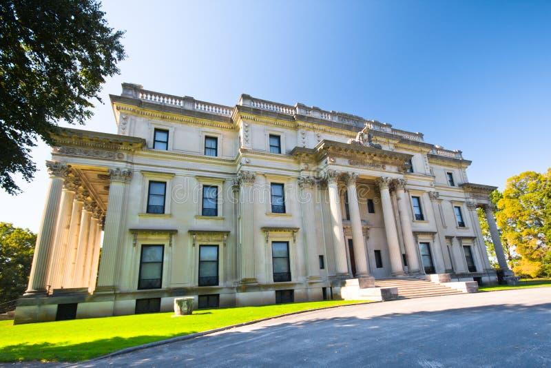 Vanderbilt Mansion. View of historic Vanderbilt Mansion at Hyde Park, New York stock image