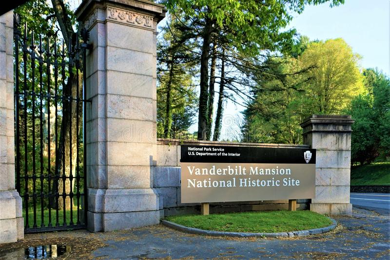 Vanderbilt Mansion National Historic Site April 2019 stock image