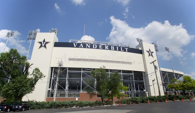 Vanderbilt Stadium in Nashville, TN stock afbeelding