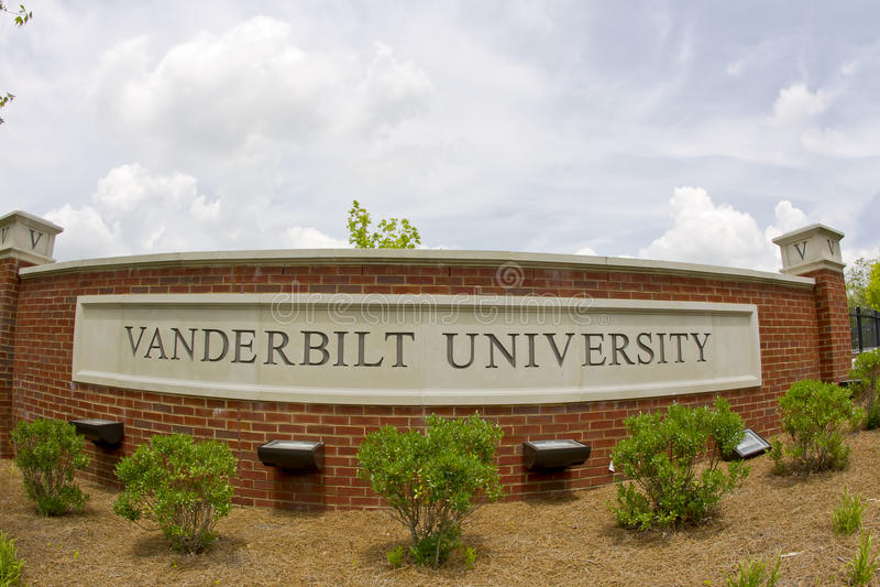 Vanderbilt University. Famous Vanderbilt University campus in Nashville Tennessee stock photography