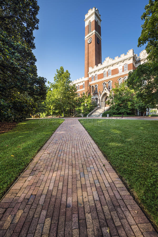 Vanderbilt University Campus. Campus of Vanderbilt Unversity in Nashville, Tennessee stock images