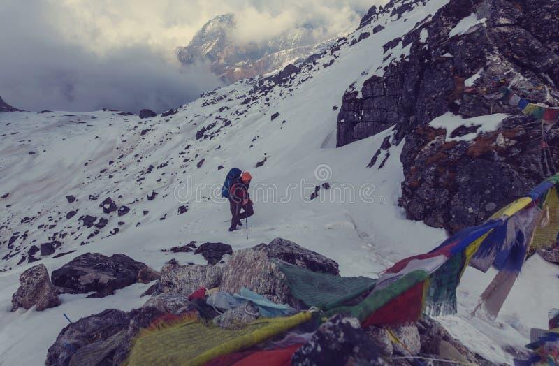 Vandring i Himalayas arkivfoton
