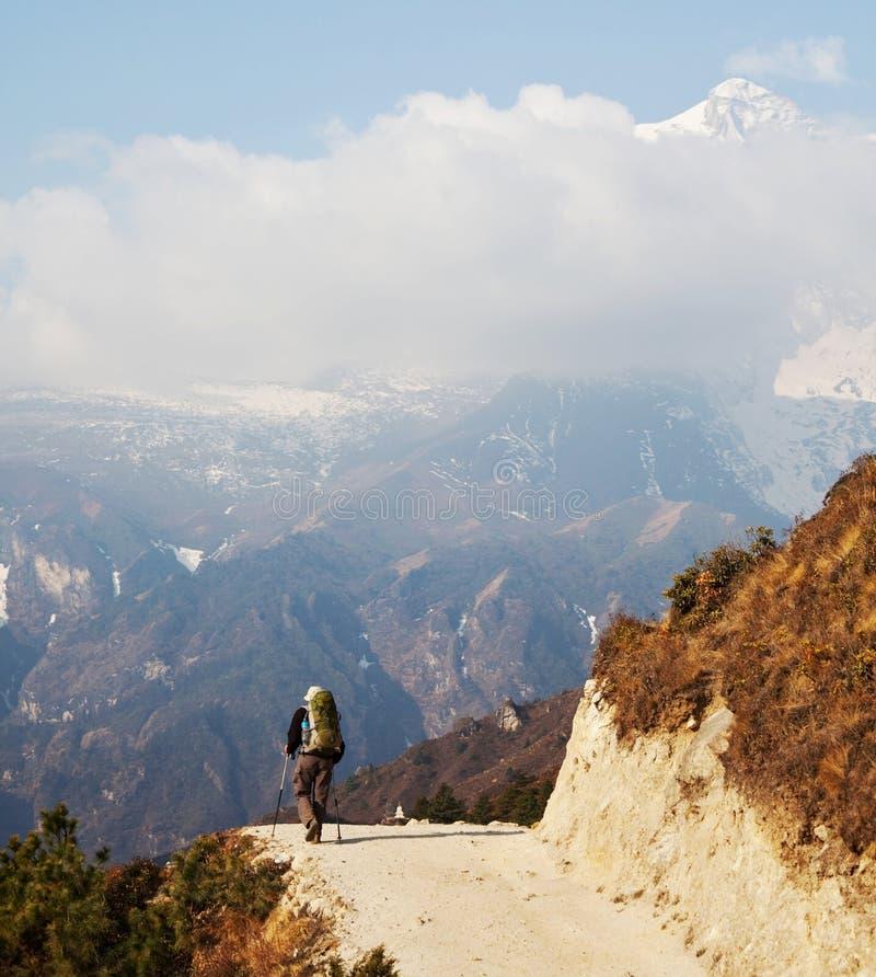 Vandring i Nepal arkivfoto
