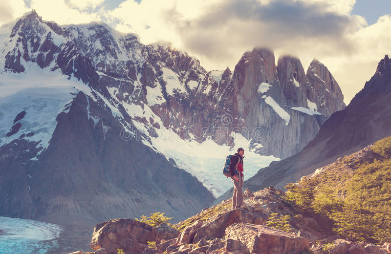 Vandring i Patagonia royaltyfri fotografi