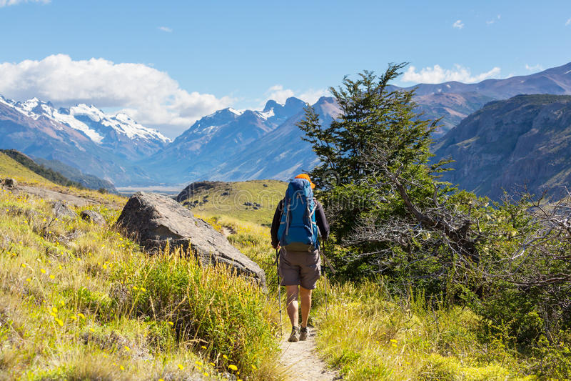 Vandring i Patagonia royaltyfri foto