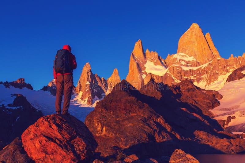 Vandring i Patagonia arkivfoton