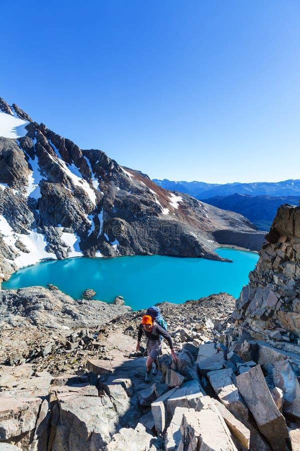 Vandring i Patagonia arkivbilder