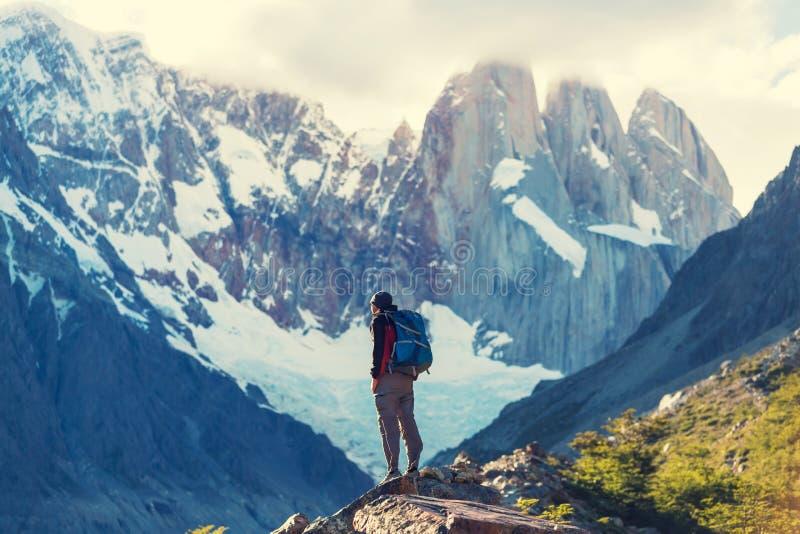 Vandring i Patagonia arkivfoto