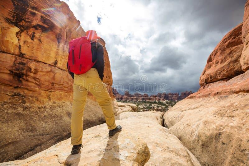 Vandring i Utah arkivbild