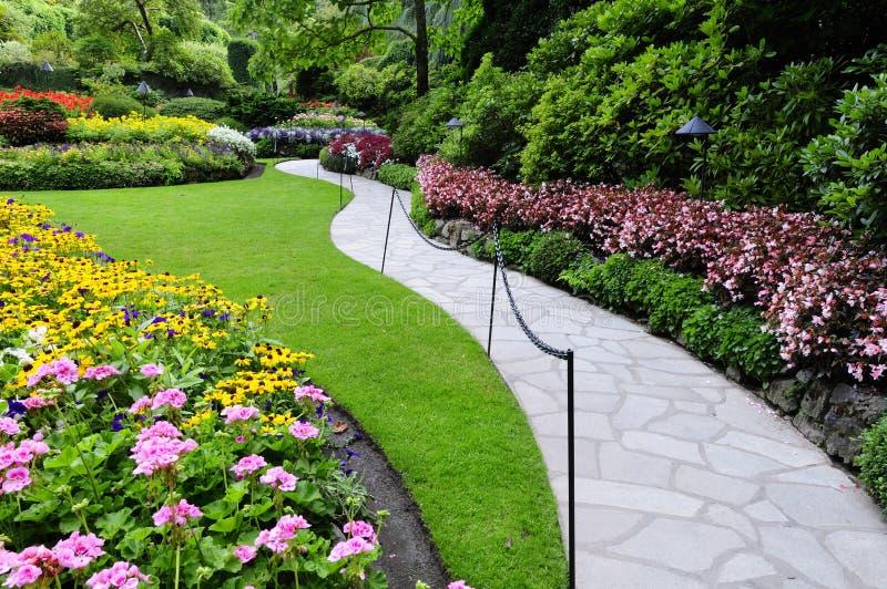 vandringsledträdgård royaltyfri fotografi