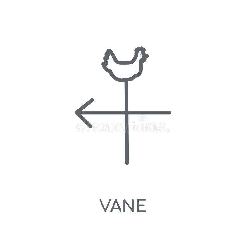 Vane liniowa ikona Nowożytny konturu Vane logo pojęcie na bielu plecy ilustracji