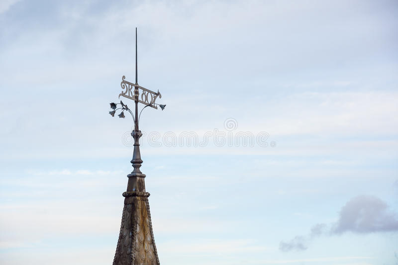 Vane on a tower in the old city Tallinn. Estonia royalty free stock image