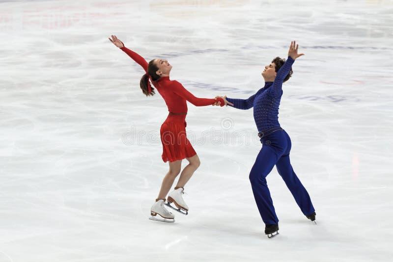 Vanessa Crone en Paul Poirier royalty-vrije stock afbeeldingen