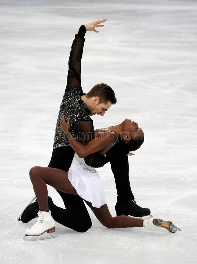 Vanessa JAMES/Morgan CIPRES (FRA) fotografia stock