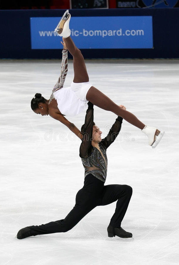 Vanessa JAMES/Morgan CIPRES (FRA) obraz stock