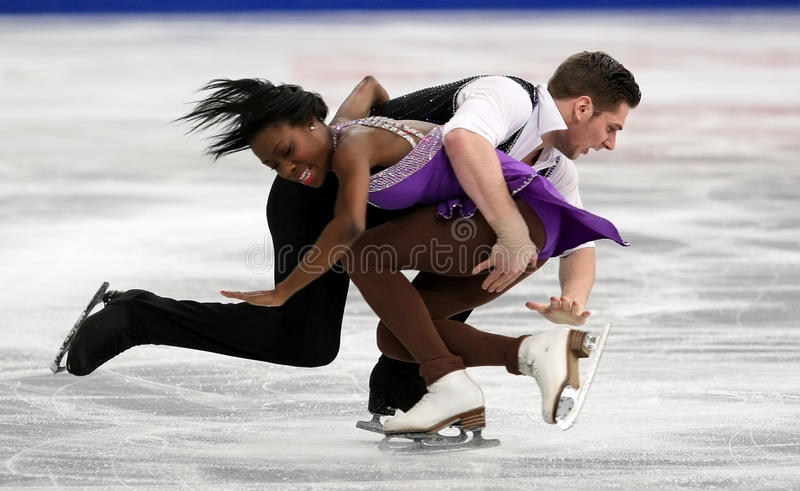 Vanessa JAMES/Morgan CIPRES (FRA) zdjęcia royalty free