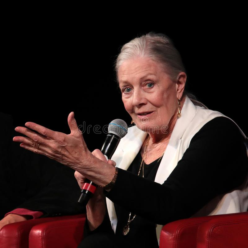 Vanessa Redgrave Meets The Audience - 12th Rome filmFest arkivfoto
