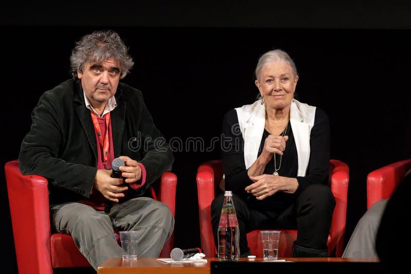 Vanessa Redgrave Meets The Audience - 12th Rome filmFest royaltyfria bilder