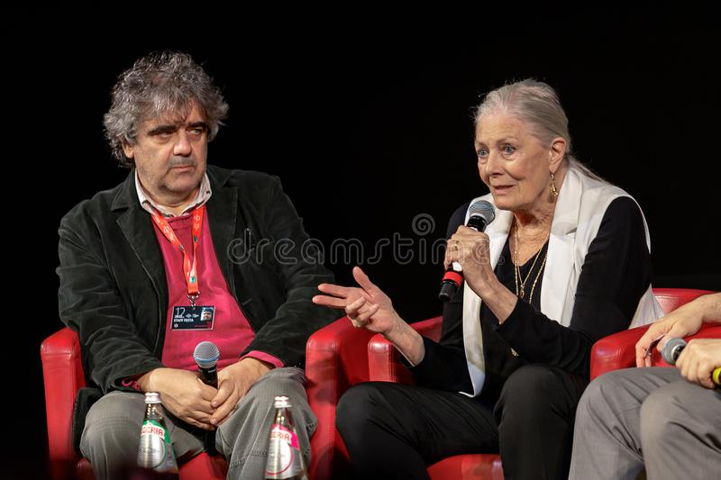 Vanessa Redgrave Meets The Audience - 12th Rome filmFest arkivfoton