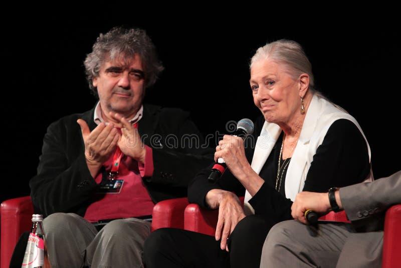 Vanessa Redgrave Meets The Audience - 12th Rome filmFest arkivbild