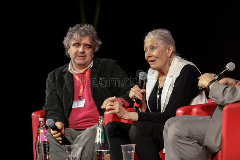 Vanessa Redgrave Meets The Audience - 12th Rome filmFest royaltyfri fotografi