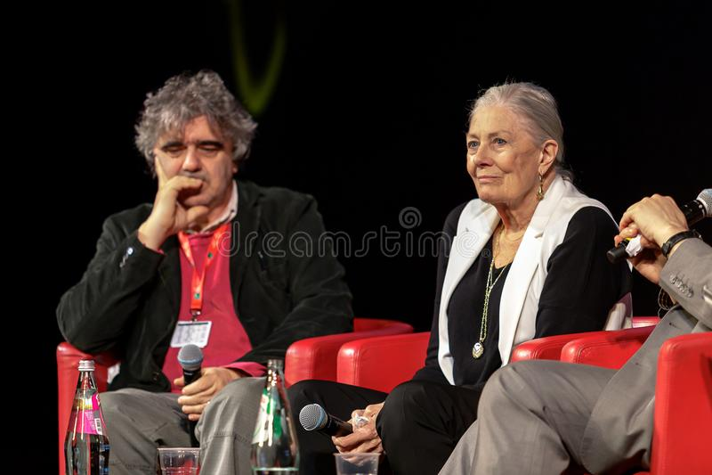 Vanessa Redgrave Meets The Audience - 12th Rome filmFest arkivbilder