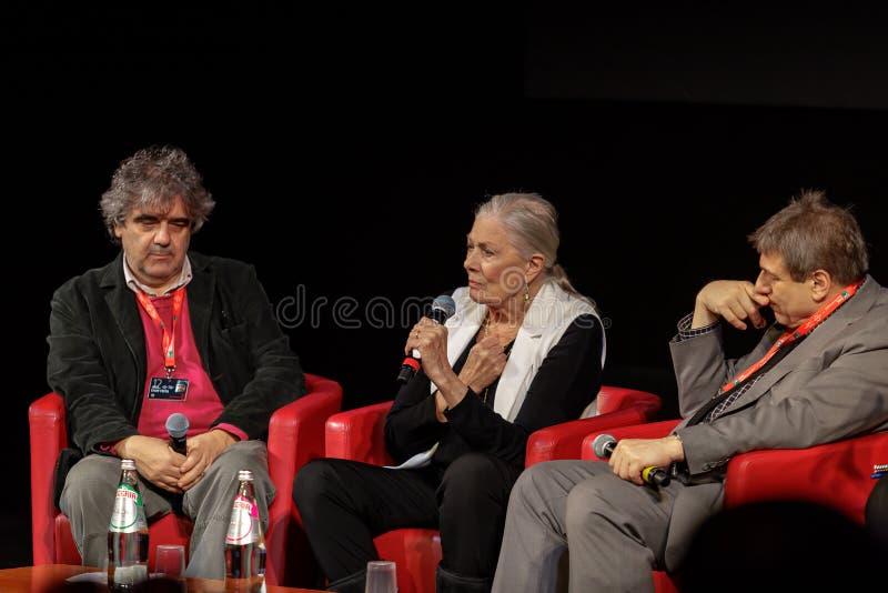Vanessa Redgrave Meets The Audience - 12th Rome filmFest royaltyfria foton