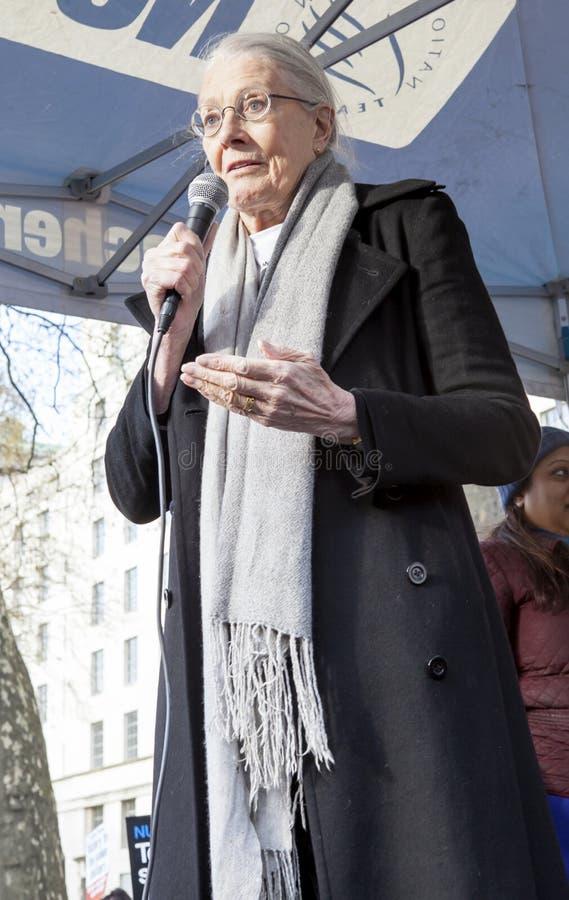 Vanessa Redgrave Speaks a raduno immagine stock libera da diritti