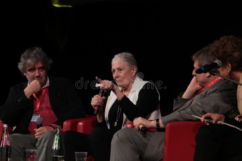 Vanessa Redgrave Spotyka widowni - 12th Rzym Ekranowy Fest zdjęcia royalty free