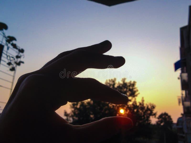 Vang een zonsopgang stock afbeelding