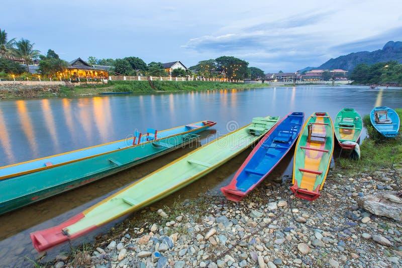 Vang Vieng, Laos stock foto