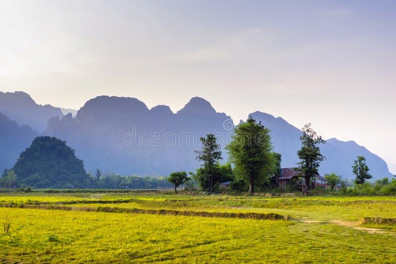 Vang vieng Laos royalty-vrije stock fotografie