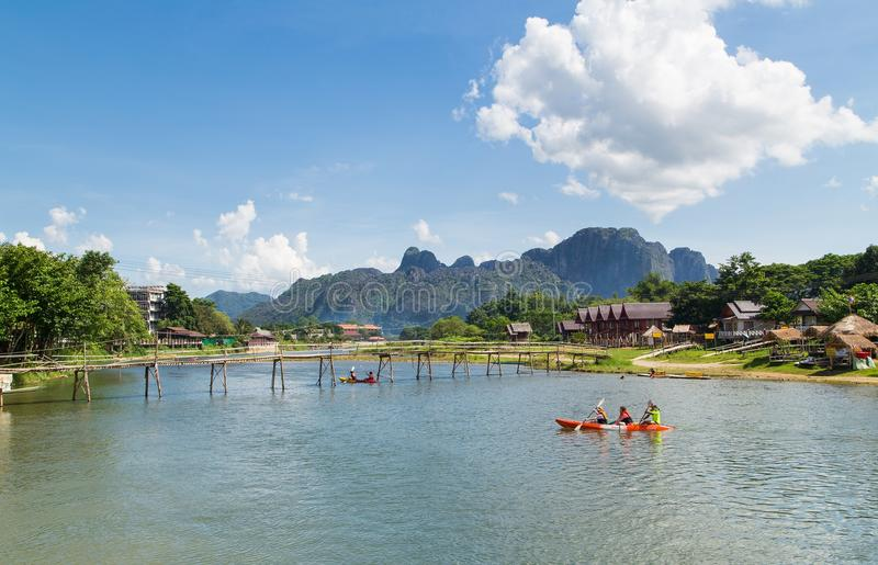 Vang Vieng, Laos royalty free stock photography